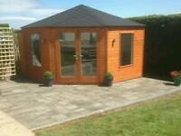 New top quality 12 x12 garden room fully insulated and double glazed