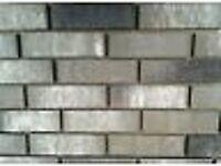 BRICK-TILE-SLIPS NF677 colour Grey/white/ Black Flamed