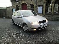 2004 SKODA FABIA SDI DIESEL, COMFORT 5 DOOR HATCHBACK, 55 MPG, LONG MOT CHEAP TAX.