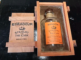 Edradour cases and empty bottles