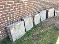 28 concrete paving slabs various sizes free to anyone that wil take them away