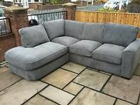 New ex display large corner sofa in grey only £369