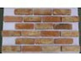 Brick tile: Barock; red/white/black flamed color ref 451WDF, Hand molding,