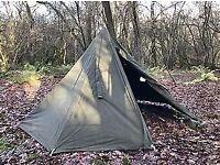 Polish Lavvu 2 person canvas poncho tent