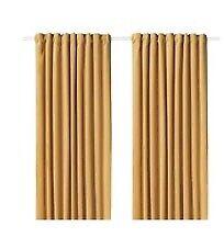 Long mustard yellow curtains