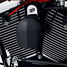 Wrinkle Black Horn Cover, Harley Models '93 and later except VRSC