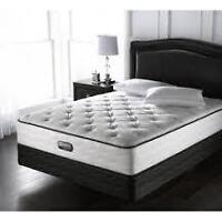 BRAND NEW... Simmons Beautyrest Sovereigh double mattress and bo