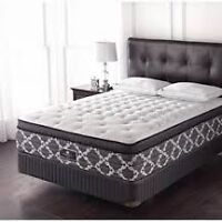 Sealy Posterpedic, Silver Coast queen mattress and boxspring