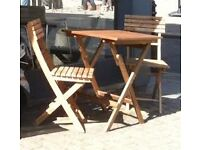 Fantastic wooden garden table and chair set