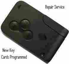 Renault Key Card Repair, Fix & programming.     Megane  Grand  Scenic    Clio