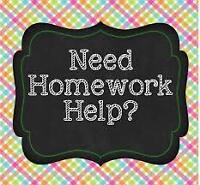 Nova Scotia Tutors will complete any homework!