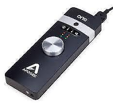 Apogee One Microphone, 2 IN and two out audio interface, Headphone amplifier for iPhone , iPad and mac brand new.