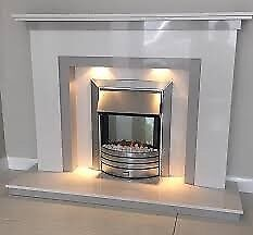 Roma Plus Marble Fireplace
