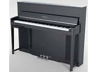 Kurzweil CUP-2 Quality Digital Piano Polished Ebony as new including matching rise and fall stool.