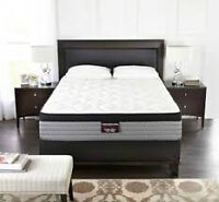 BRAND NEW.... KINGSDOWN RETREAT QUEEN MATTRESS AND BOXSPRING