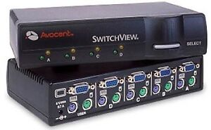 Avocent KVM SwitchView CYBEX 4-Ports avec 4 X Cable 6'