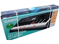 Casio LK-160 Key Lighting Keyboard System with Stand and 110/220 Volt AC Adapter - Brand New!!