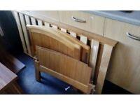 pine cot bed/ no mattress/ good cond £30