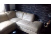 Land of leather corner sofa