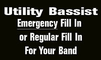 Bassist Available For Regular/Emergency Fill In Services