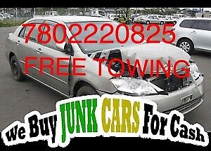 CASH for Scrap car junk cars removal 7802220825 FREE TOWING