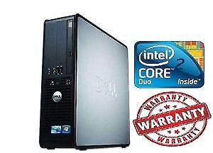 WINDOWS 10 DELL 380 TOWER DESKTOP PC INTEL CORE2DUO 4GB DDR3 128SSD DVDRW HDD
