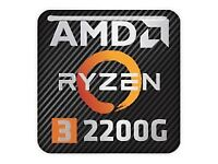 Ryzen Gaming PC with Vega Graphics. Great upgrade potential Windows 10 DDR4 Ram SSD Ultra Quiet