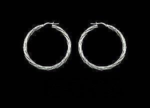Large Sterling Silver Hoop Earrings Ebay