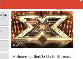 Xfactor adudution audience tickets