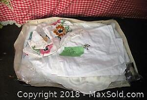 Vintage Table cloth with matching napkins/ other napkins
