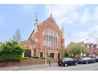 Spacious one bed apartment, in a Church Conversion with a Private Garden.