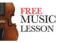 FREE TASTER: PRIVATE MUSIC LESSON - Piano, Violin, Singing, Guitar, Drums Lessons