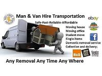 Man & Van Hire Self Storage Collection Delivery House Removal Flat shifting Transport to All UK Move