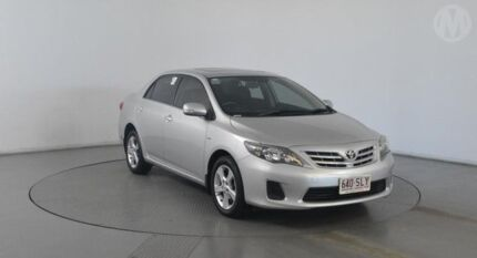 2012 Toyota Corolla ZRE152R MY11 Conquest Silver Pearl 4 Speed Automatic Sedan Eagle Farm Brisbane North East Preview