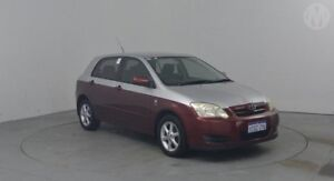 2006 Toyota Corolla ZZE122R Conquest Seca Merlot Red 5 Speed Manual Hatchback Perth Airport Belmont Area Preview