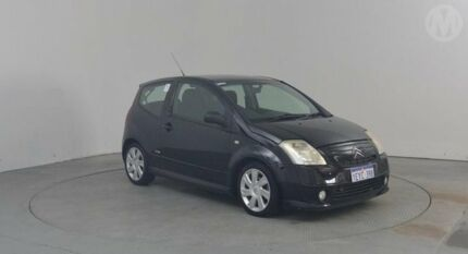 2008 Citroen C2 MY06 VTR Black 5 Speed Sequential Manual Hatchback Perth Airport Belmont Area Preview