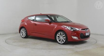 2013 Hyundai Veloster FS MY13 + Veloster Red 6 Speed Auto Dual Clutch Coupe Altona North Hobsons Bay Area Preview