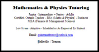 Maths & Physics Help & Tutoring