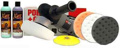 Porter Cable 7424XP Polisher Combo Kit - swirl remover buffer pads carnauba wax