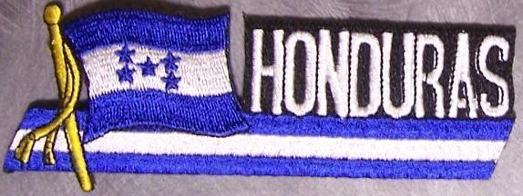 Embroidered International Patch National Flag of Honduras NEW streamer