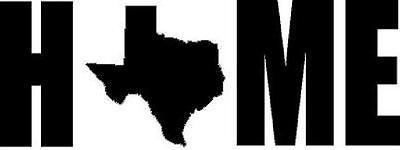 Texas Home vinyl decal State Longhorn South  (Texas Longhorn Dekorationen)