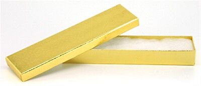 100 Gold Cotton Filled Jewelry Craft Gift Boxes 8