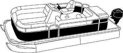 7oz STYLED TO FIT BOAT COVER GODFREY SANPAN SP 2500 SL 2012-2015