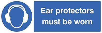 Sign Ear Prot Must Be Worn Personal Protection Site Safety Signs