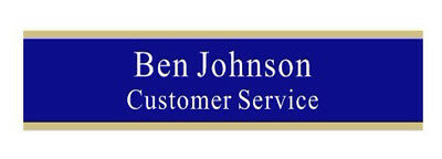 Desk Name Plate- 2 X 8 Blue Custom Name Platename Plate For Officeplate 02