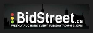 Online Auction Greater Toronto Area GTA AUCTION AUCTIONS Bidstreet Online Auctions Every Tuesday 7pm to 9:30pm