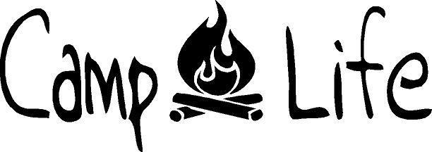 Camp Life with campfire  vinyl decal/sticker camping