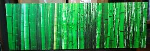 Bamboo Print on Canvas