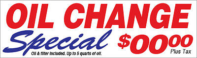 Oil Change Special Vinyl Banner Sign Custom 2x4 Ft Auto Repair Add Your Price