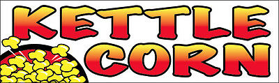 Kettle Corn Vinyl Banner Sign 2x4 Ft
